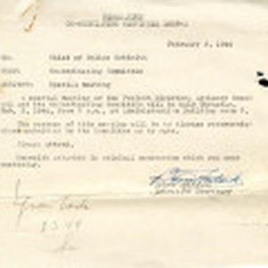 Memo from Co-ordinating Committee to Chief of Police Schmidt [Willard E. Schmidt], ...