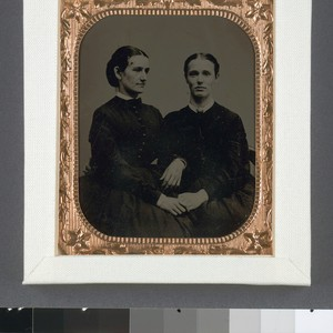 [Margaret J. Dobie and a woman friend before her marriage to George ...