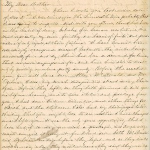 Letter from Augustin Hibbard to [William Hibbard] 1863 March 14