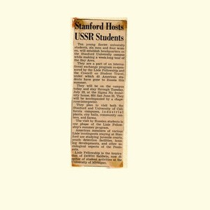 Stanford Hosts USSR Students