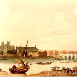 A View of London from the Thames, taken opposite the Adelphi
