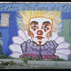 Don't shed the tears of a clown, Highland Park, Los Angeles, 1990