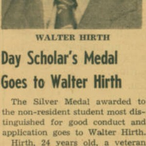 Day Scholar's Medal
