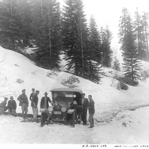 Mr. Nash and Friends with Car on Snowy Road