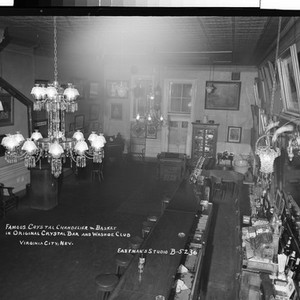 Famous Crystal Chandelier & Basket in Original Crystal Bar and Washoe Club ...