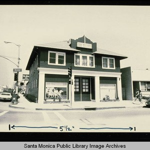 Old Ocean Park firehouse on Rose Avenue and Main Street, Santa Monica, ...