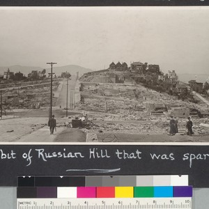 A bit of Russian Hill that was spared. [Looking north along Jones ...