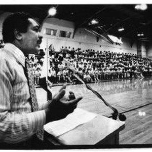 Mervyn M. Dymally speaking at Boys' State