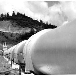 A pipeline section for the New Colgate penstock