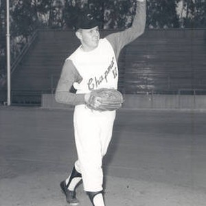 Skip Hall, Chapman College Panthers baseball team member at Hart Park, Orange, ...