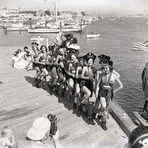 "Women dressed as pirates for ""Pirate Days"" celebration, Newport Beach, California: Photograph"