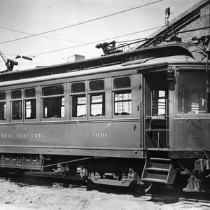 Pacific Electric car parked