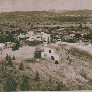 Home of William S. Hart overlooking a valley near Valencia appearing in ...
