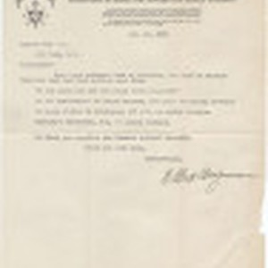 Letter from the Brotherhood of Light to Zarvah Pub. Co., August 17, ...