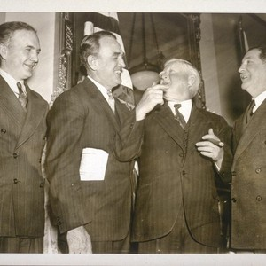 [Vice President Garner meeting Senator-elect Sheridan Downey and other new senators.]