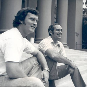 Pat Curran and Bob Pomeroy on the steps of Memorial Hall, Chapman ...