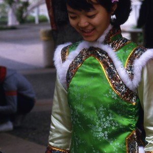Girl in Traditional Chinese Costume Smiling