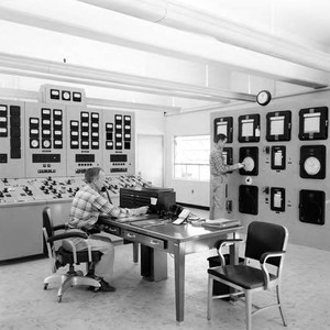 Interior of control room at Lower Gorge Plant