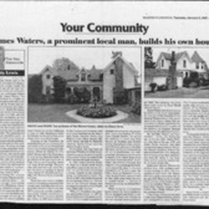 James Waters, a prominent local man, builds his own house