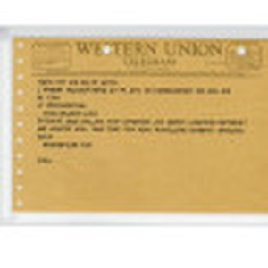 Telegram [to] Bruce Herschensohn, Los Angeles, Calif. [from] Jean Manzan, Rio de ...