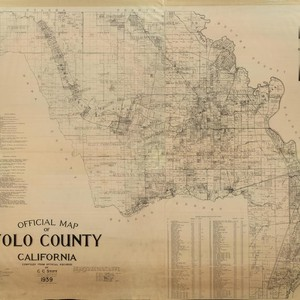 Official Map of Yolo County California, Compiled from Official Records, by C.C. ...