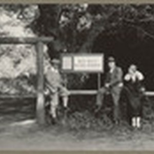 [Alfred Fuhrman with man and woman posing near Muir Woods National Monument ...