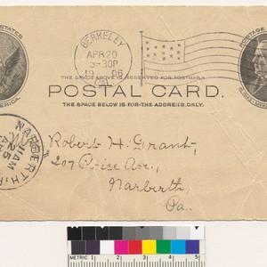 [Postcard sent to Robert H. Grant, dated April 20, 1906]
