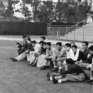 Students on athletic field