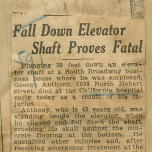 Fall down elevator shaft proves fatal