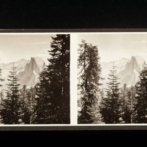 Stereoscope card (Stereographic)--Half Dome, Yosemite National Park