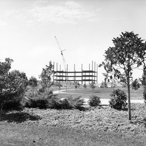 View of construction of Physical Sciences I building