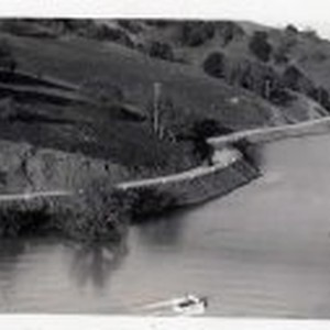 Filling of Almaden Reservoir - Boat and Car Also in Photo