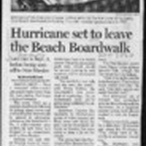 Hurrican set to leave the Beach Boardwalk