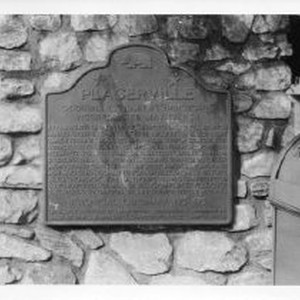 "View of the plaque for Placerville, first known as ""Hangtown"", California State ..."
