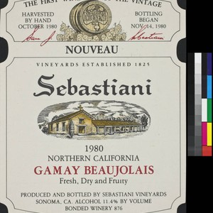 Proprietor's Reserve Sebastiani 1982 Sonoma Valley chardonnay : the result of special ...