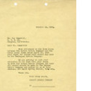 Letter from [Minna A. Newman], Carson Estate Company to Mr. Roy Campbell, ...