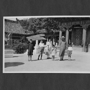 Yenching University faculty family on a picnic, Beijing, China, ca.1931