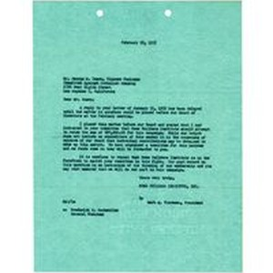 Letter from Mark A. Thoreson to George M. Eason, February 18, 1952