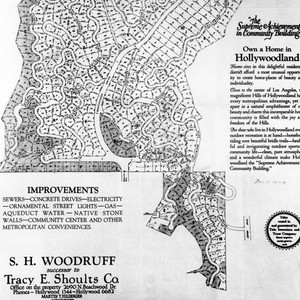 Scaled map of Hollywoodland Tract no. 6450