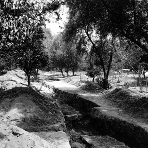 Mission San Gabriel Arcangel irrigation ditch, view 2