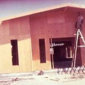 The Mt. Moriah A.O.H. Church of Christ under construction The Taber family ...