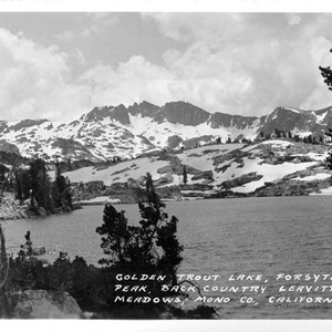 Calisphere: Golden Trout Lake, Forsyth Peak, Back Country