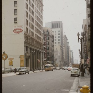 Intersection of 6th Street and Spring Street looking south. Grosse Building being ...