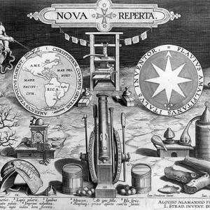 "Title page: ""Nova Reperta"" (New Discoveries)"