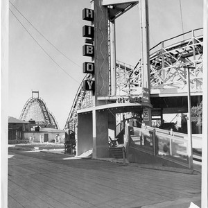 Hi Boy roller coaster at the construction site of Pacific Ocean Park, ...