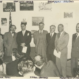 Frank V. de Bellis with J. Paul Leonard, San Francisco Consul General ...