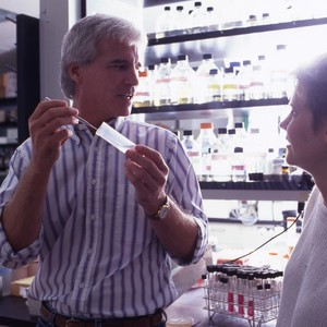 Professor John Wasmuth in science lab
