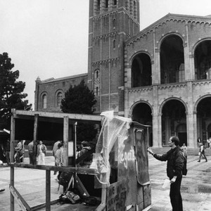 Student protests at UCLA quad