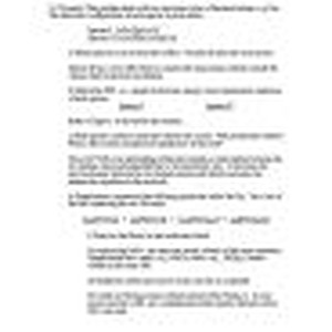 Chemistry 1b, spring, 2008, solutions to the second midterm examination
