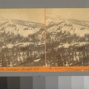 Summits of Sierras, 8,000 to 10,000 feet altitude
